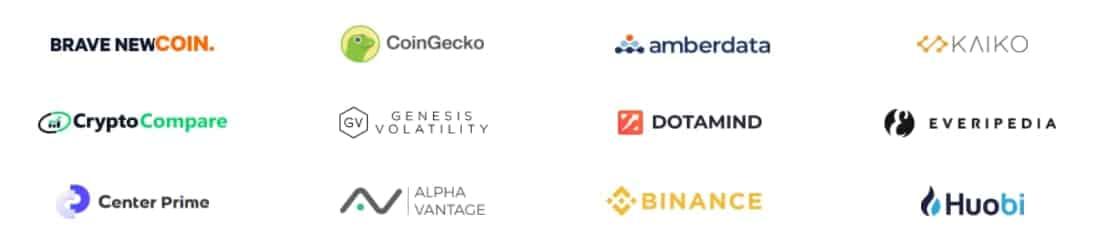 Die wichtigsten Datenprovider im Chainlink-Ökosystem