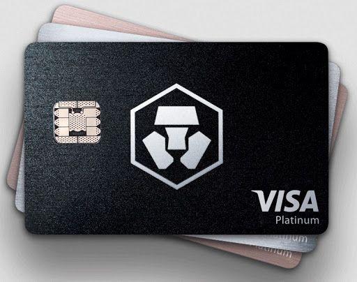 Crypto.com: Visa Platinum Karte in Schwarz