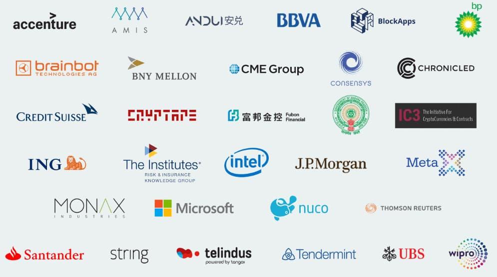 Mitglieder der Ethereum Enterprise Alliance (EEA)