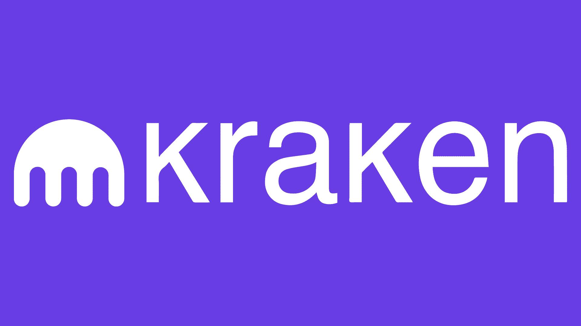 Logo der in San Francisco ansässigen Bitcoin und Krypto Börse Kraken