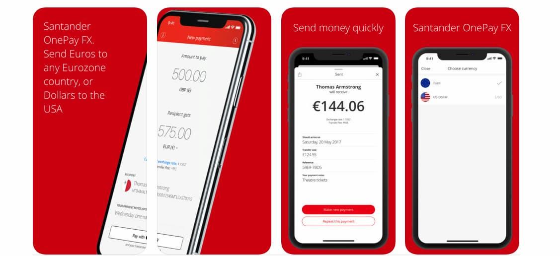 Produktbild Santander OnePay FX
