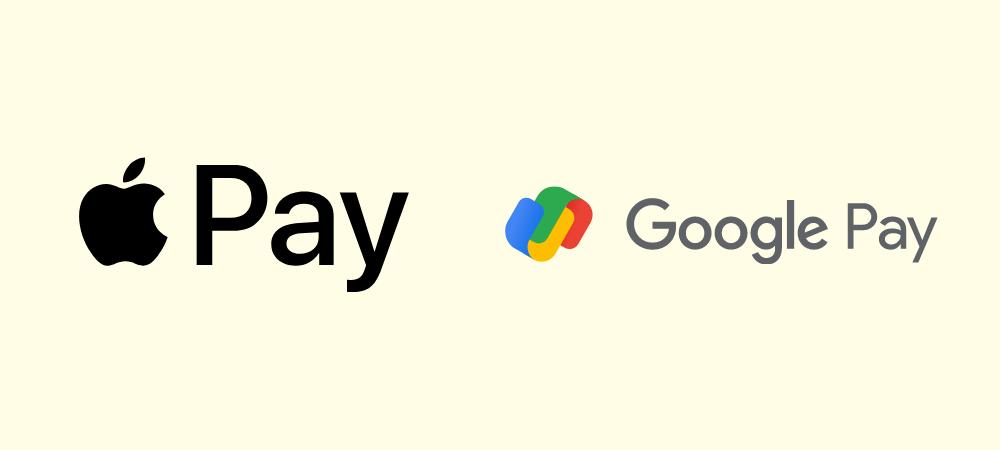 Logos von Apple Pay und Google Pay (2021)