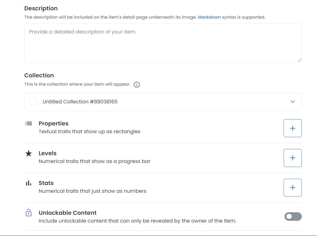 OpenSea create